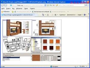 Второй  лист  проекта  в  программе  для  проектирования  мебели.