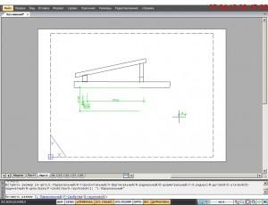 Чертеж в программе  проектирования  nanoCad V 3.7